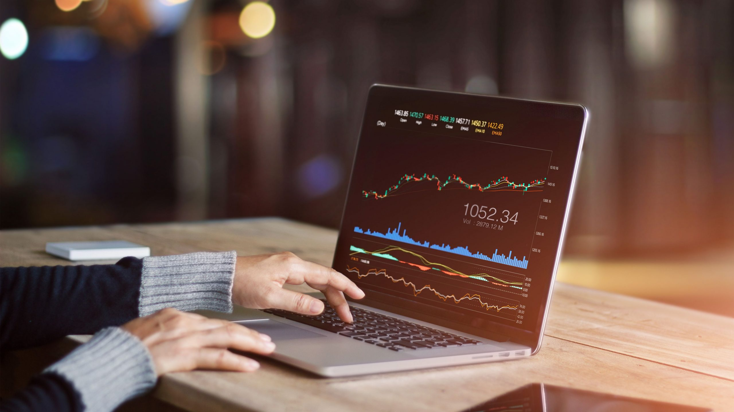 Trading is buying and selling stocks